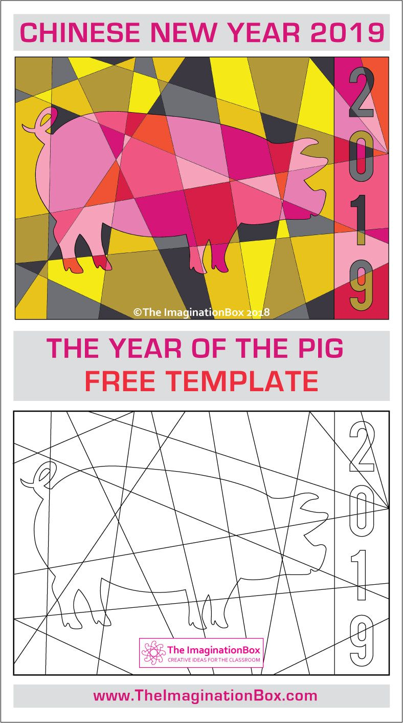 This chinese new year 2019 year of the pig free printable - Lucky color for new year 2019 ...