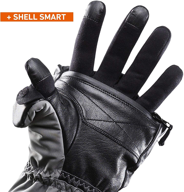 3a6cae9e739d2 Amazon.com: Heat 3 Smart Gloves (Black) Large Size 10 (9