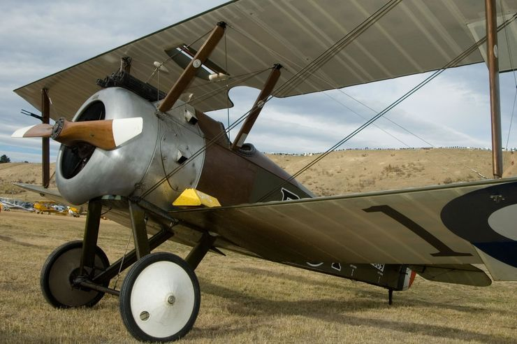 WWI Sopwith Camel replica at New Zealand's Warbirds over Wanaka air show.