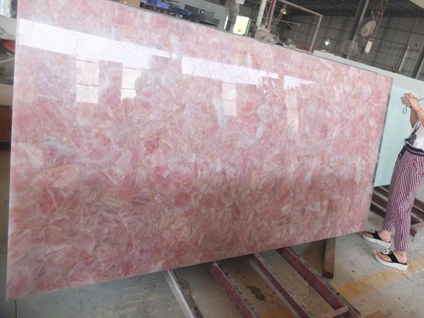 Rose Quartz Slab Stones Stone Countertops Quartz Slab