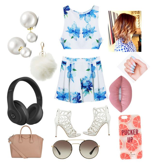 """Summer love!"" by pascalleowens2005 on Polyvore featuring interior, interiors, interior design, home, home decor, interior decorating, GUESS, Givenchy, Prada and Beats by Dr. Dre"