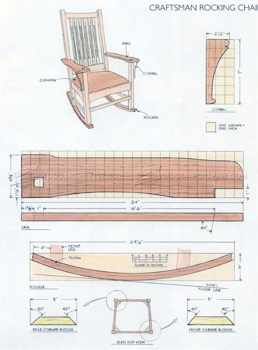 1861 Craftsman Rocking Chair Plans Furniture Plans Rocking