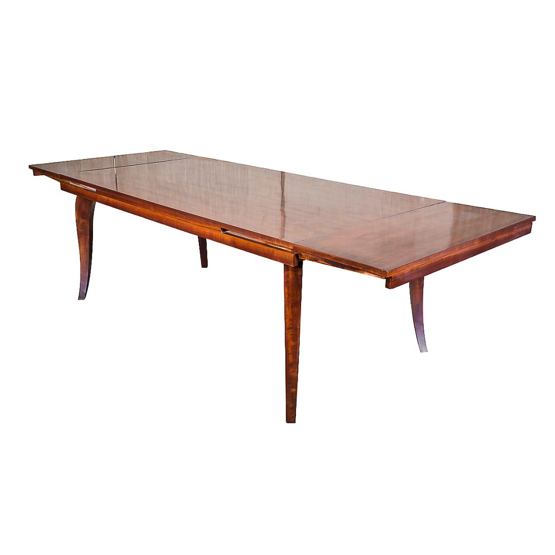 Sleek And Handsome Art Deco Mahogany Dining Room Or Conference