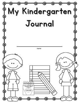 My Kindergarten Journal Freebie Cover And Blank Writing Pages