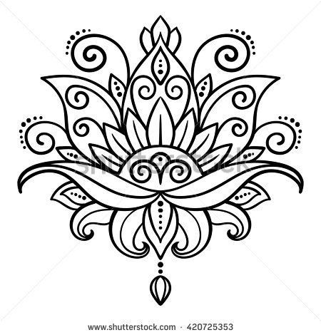 Pin De Maria Cristina Trapani En Henna Flores Para Dibujar Mandalas Flor De Loto Mandalas