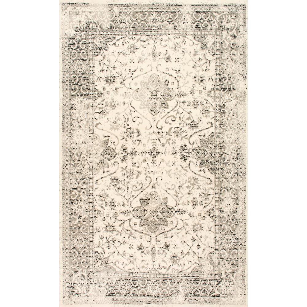 Darron Persian Vintage Grey 8 ft. 2 in. x 11 ft. 6 in. Area Rug