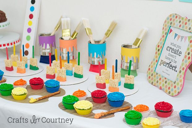 Easy Diy Kids Art Themed Birthday Party Kids Art Party Art