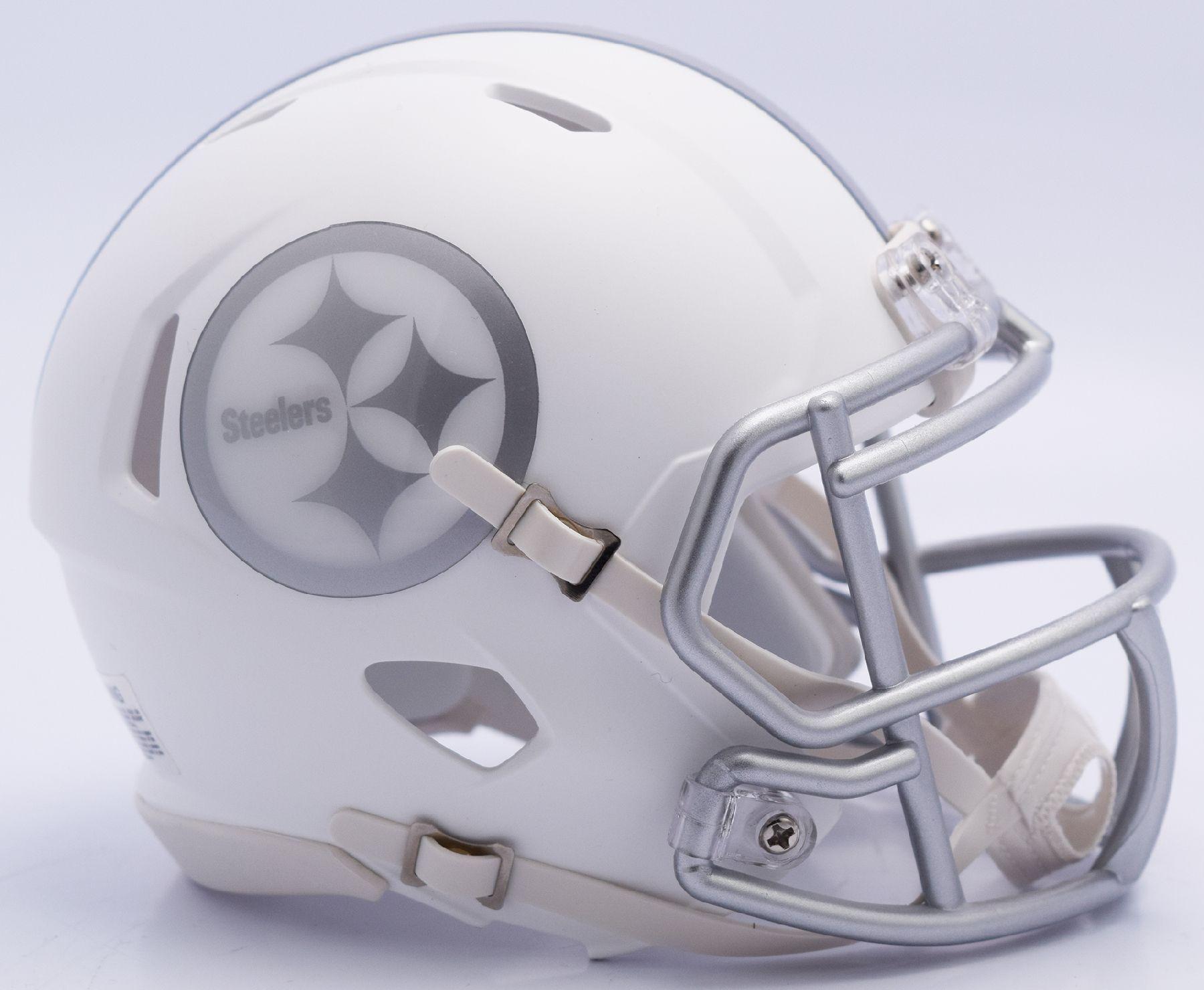 Pittsburgh Steelers Riddell Mini Speed Helmet ICE (With