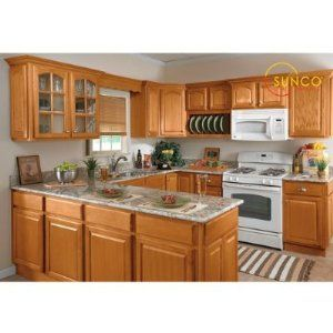 Medium image of 10 x 17 kitchen design   10x10 randolph oak kitchen