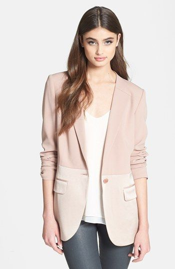 Blush colored blazer...on my lust list. Like this one! Chelsea28 ...