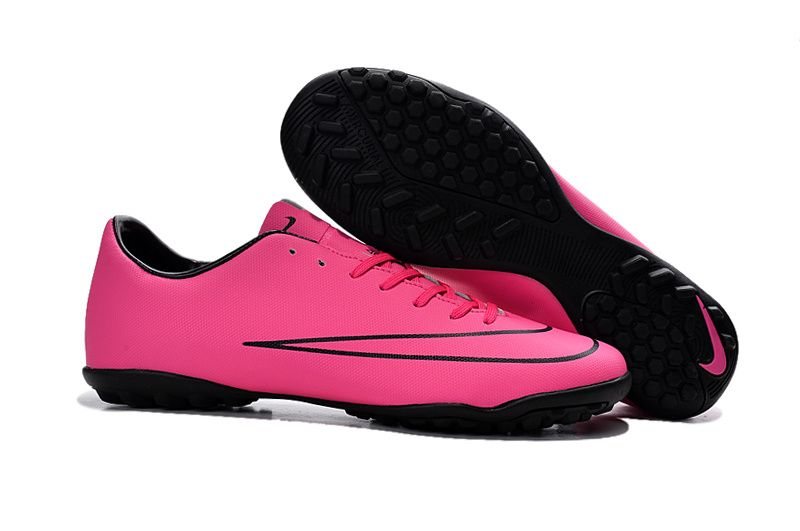 2015 Nike TF Football Boots Mercurial Victory V pink black