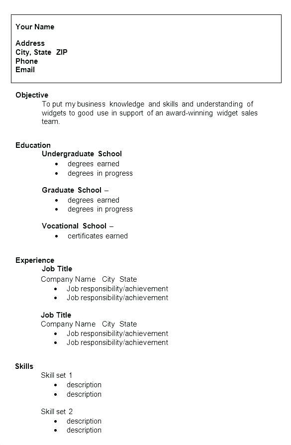 Resume Format College Student Student Resume Template College