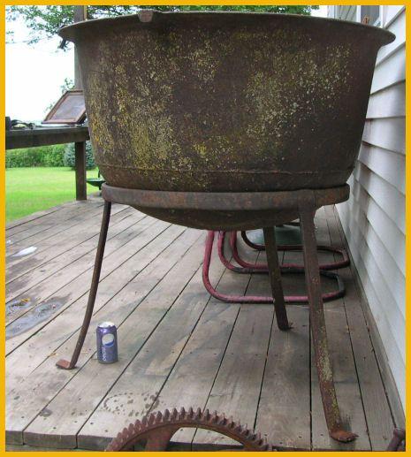 Large Antique Cast Iron Cauldron Kettle Tripod Antique Cast Iron Cast Iron Cast Iron Kettle