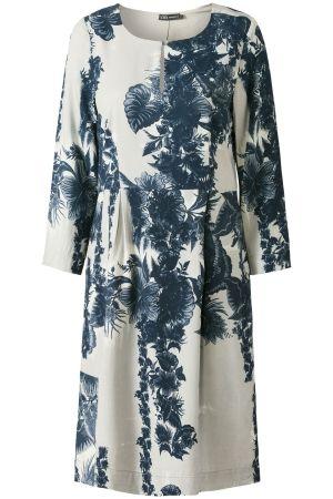 The Big Wave | Early Fall | Dress | Flowerprint | Beige | Blue