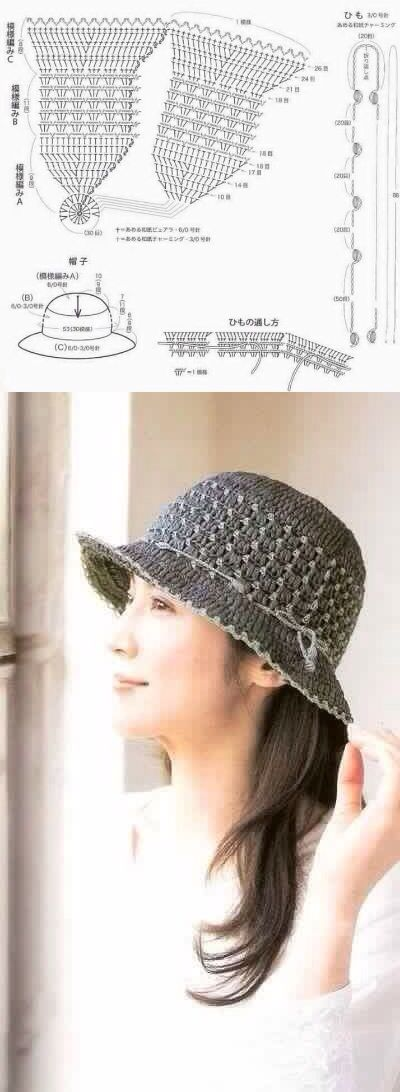 Pin de Danga Dusevicius en Kepures | Pinterest | Gorros, Ganchillo y ...