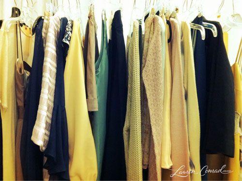 Lauren Conrad's closet - that girl has style.