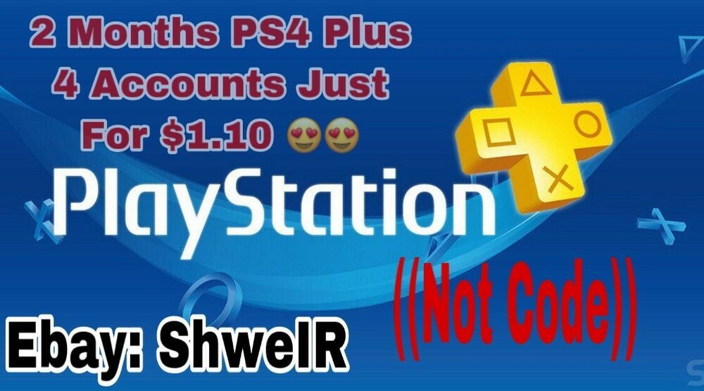 Ps4 Plus 2 Months Playstation Plus Ps4 4 Accounts 14 Day Membership No Code Ps4 Gaming Video Ps4 Plus Ps Plus Ps4