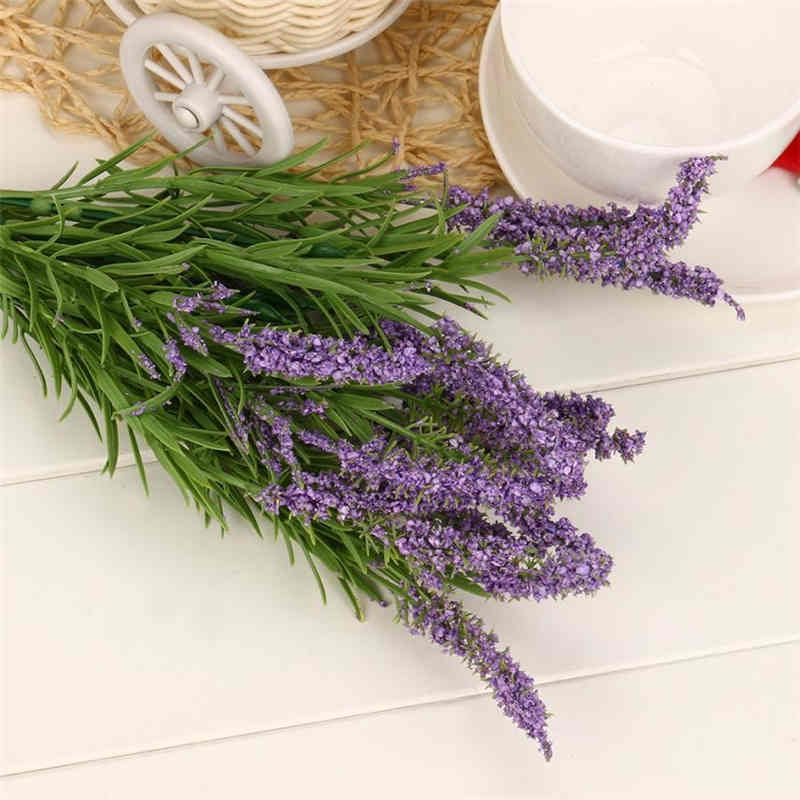 Cheap Lavender Flowers Buy Quality Artificial Lavender Flowers Directly From China Simulation Flowers Suppliers Flower Branch Lavender Flowers Romantic Decor