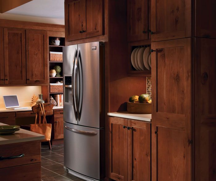 Spruce Up Your Kitchen With These Cabinet Door Styles: Dark Rustic Hickory Cabinets - Google Search