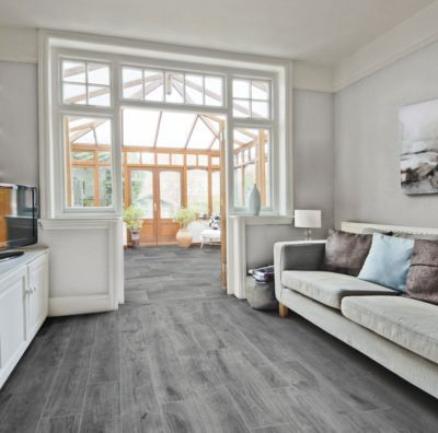 Rockwood Gray Wood Plank Porcelain Tile 8in X 36in
