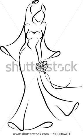 dress silhouettes | ... : Wedding Dress Silhouette Clip Art , Wedding Dress Silhouette Jpg