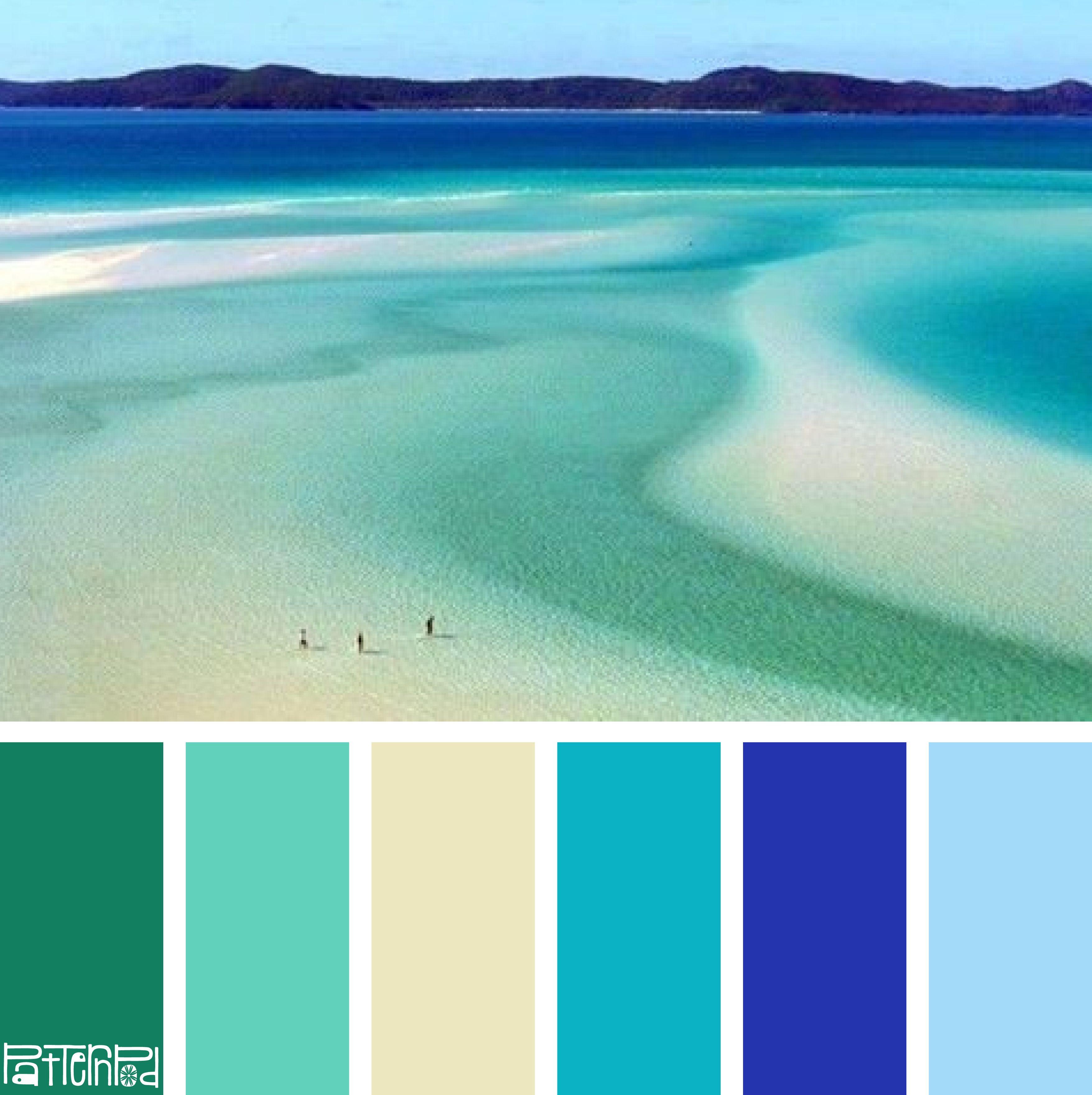 Patternpodcolor Color Colorpalettes Beach Color Schemes Beach