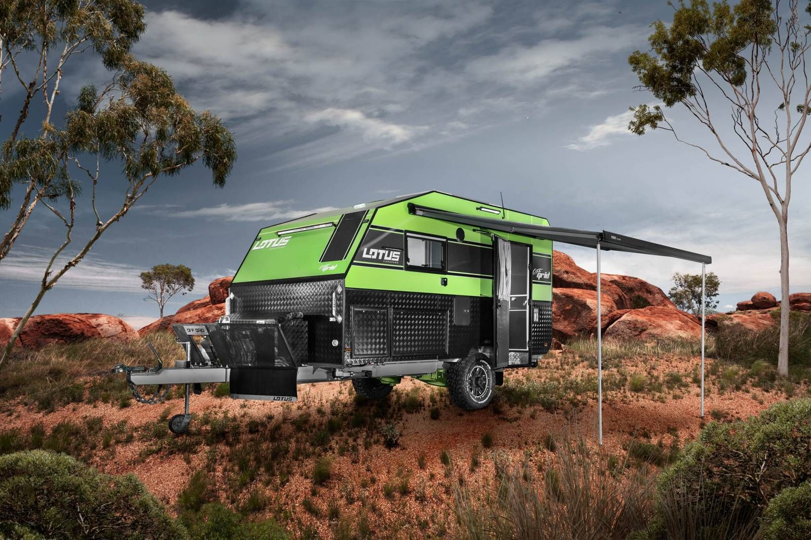 Lotus Caravans has an Off Grid trailer that\u0027s an outback camper ...