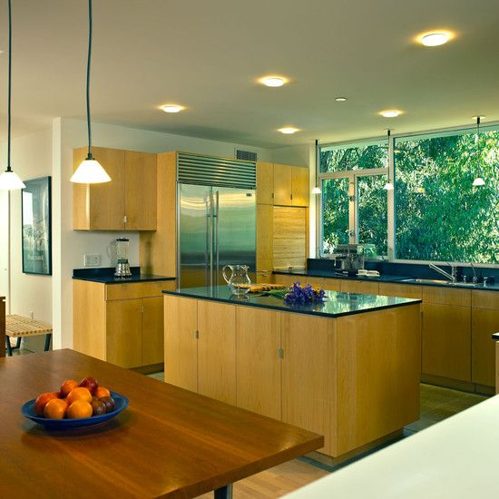 Powerful Simple Modern Home Inspiration Design: Gorgeous Kitchen Wooden Kictchen Table Chalon Road Residence