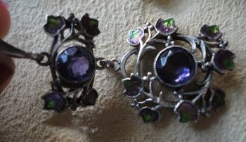 Jessie M. King for Liberty & Co. Amethyst and Enamel Pendant | Collectors Weekly View 3 of 4.