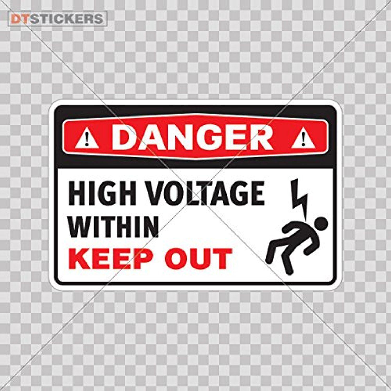 Decoration Vinyl Stickers Safety Sign Danger High Voltage Within ...