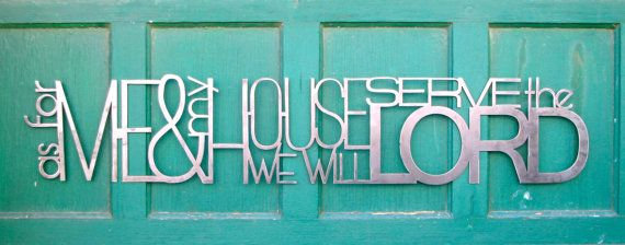 As For Me And My House Metal Scripture Wall By Thewordwithin, $50.00