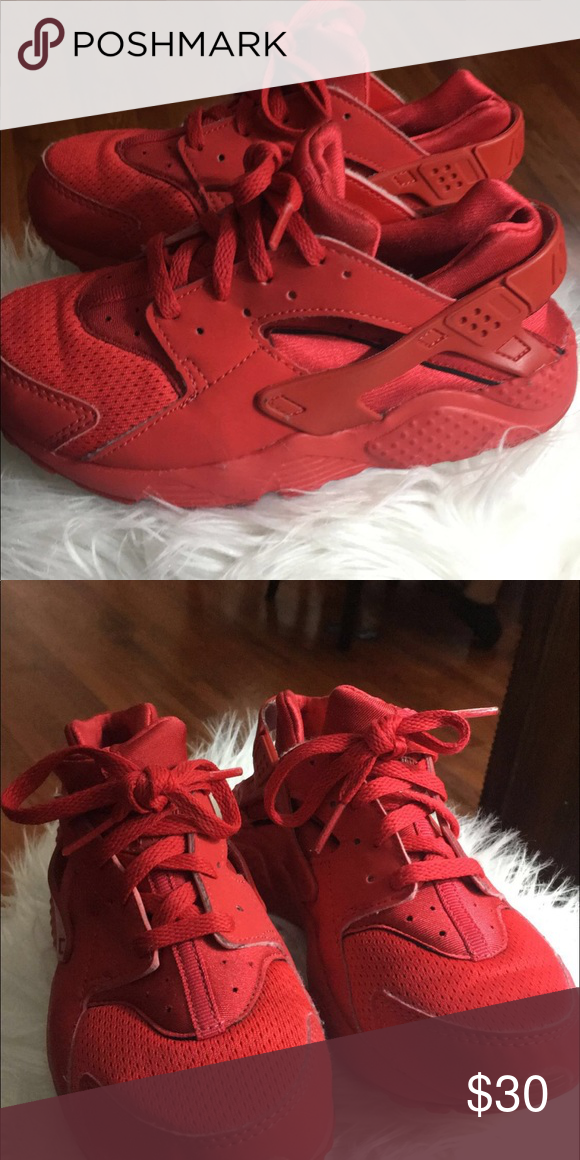 17e51dd44c Kids red huarache Great condition great price Nike Shoes Sneakers ...