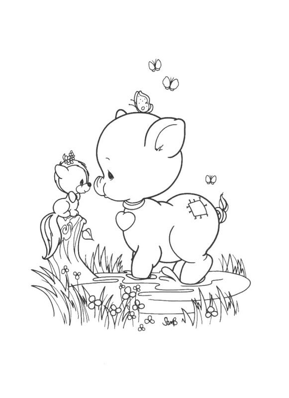 Pig Precious Moments Coloring Pages Coloring Pages Patterns