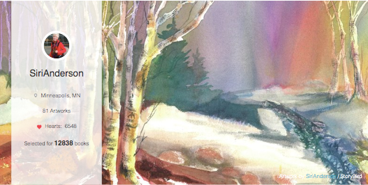 Our artist of the day, SiriAnderson, deftly captures the spirit and beauty of adventure. But her
