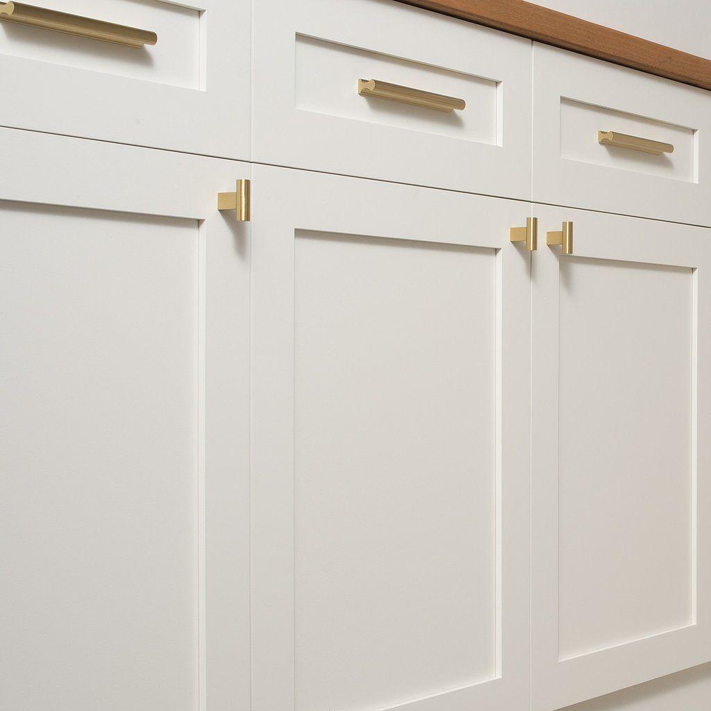 T Pull Natural Brass Kitchen Cabinet Pulls Kitchen Drawer