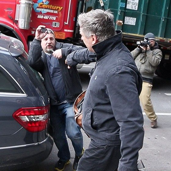Alec Baldwin Getting Angry With A Reporter As He Walks Down The