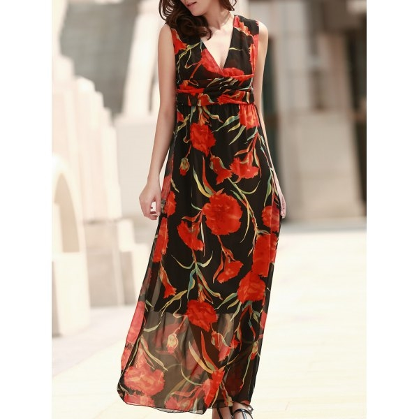 28.41$  Watch here - http://disy9.justgood.pw/go.php?t=173914704 - Sleeveless Sheer Floral Formal Dress