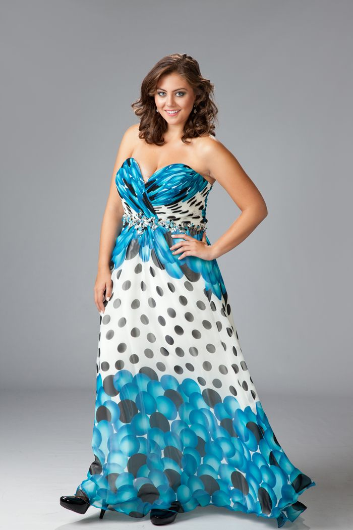 Be bold in a blue bubble print dress that will match the bubbly