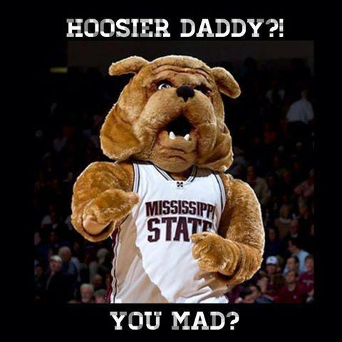 Defeating Indiana Bulldog Mascot Mascot Mississippi State University