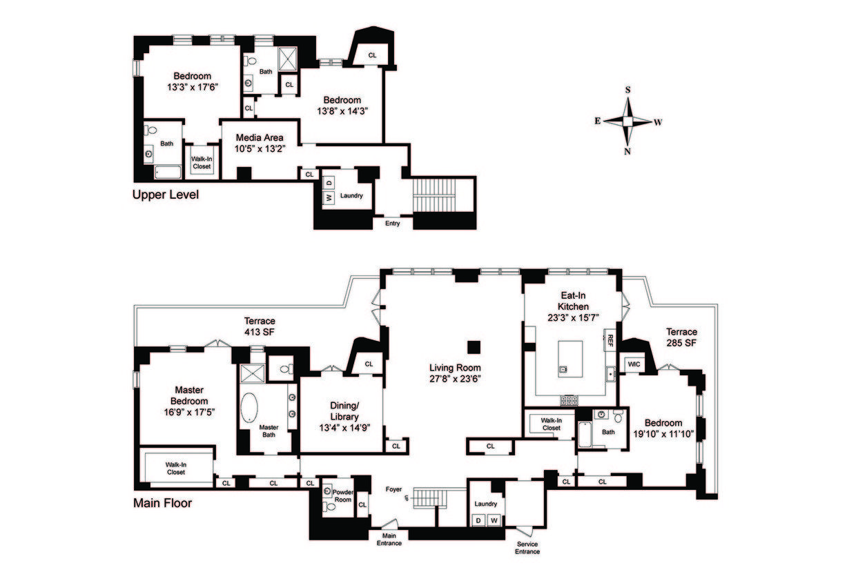 Two Sophisticated Luxury Apartments In Ny Includes Floor Plans Apartment Floor Plans Floor Plans Luxury Apartments