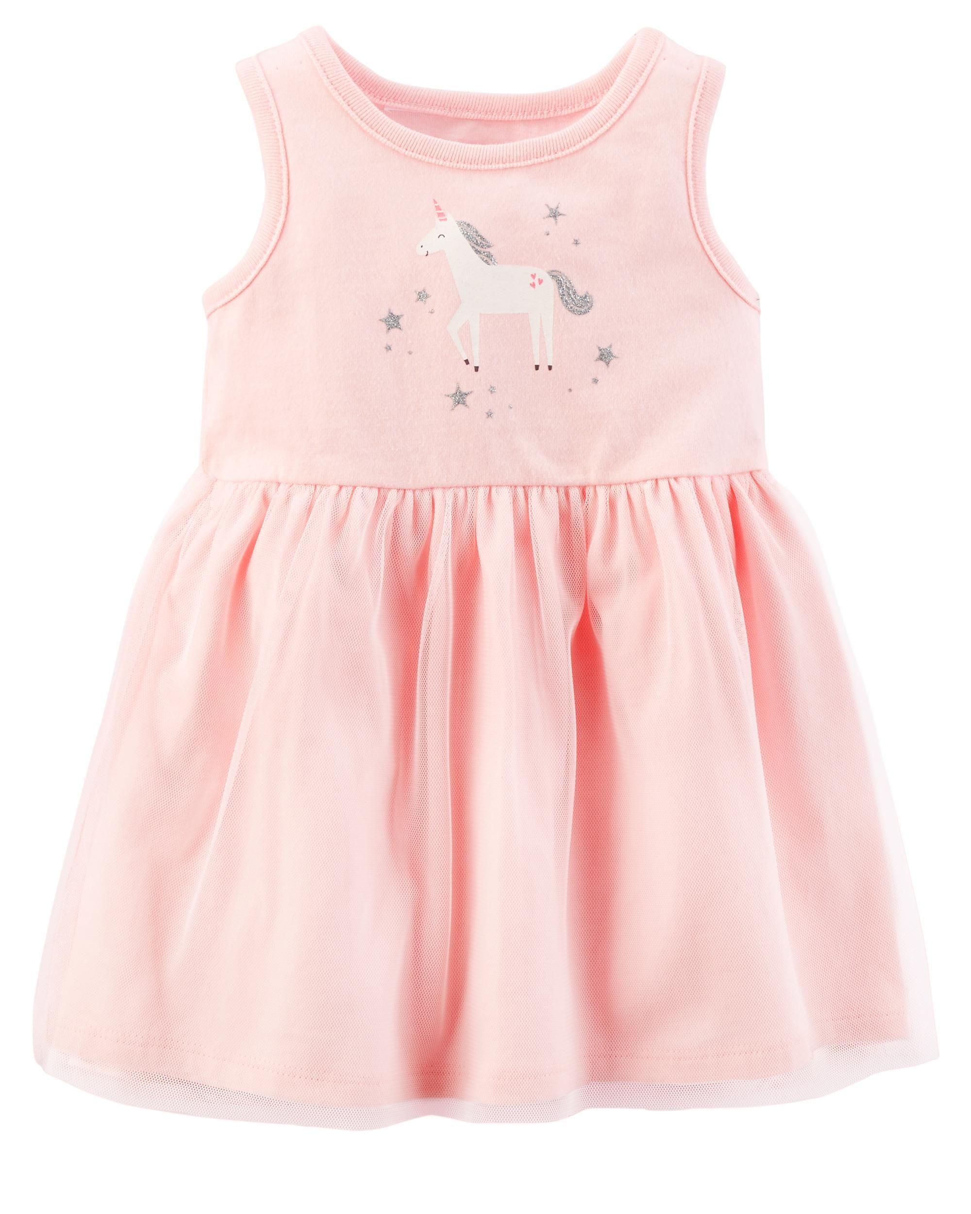 5bcbf104e1461 Unicorn Jersey Dress | Baby checklist | Tulle skirt dress, Baby ...