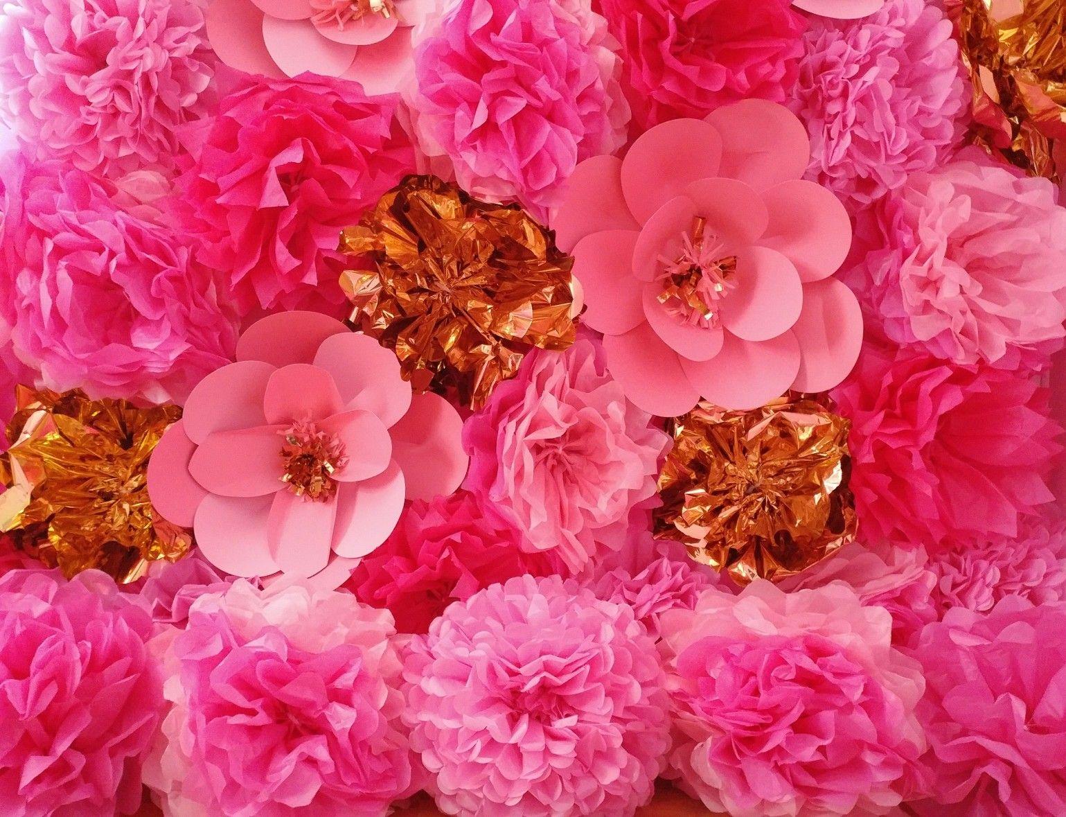 Floral Backdrop Flower Backdrop Floralwall Flowerwall Tissue