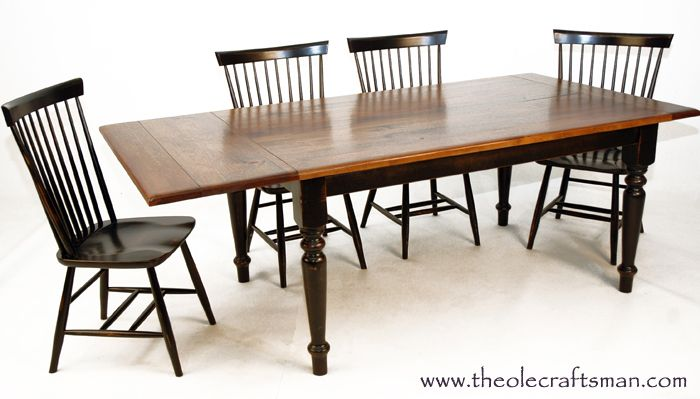 Farm Table With Self Storing Leaves