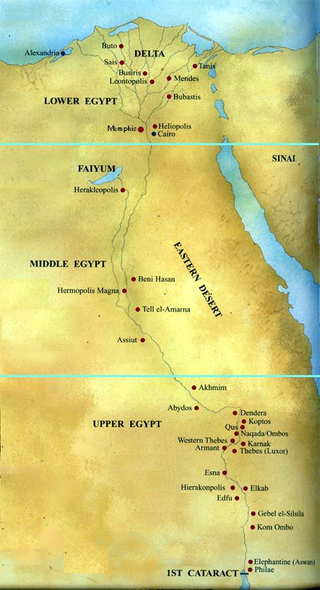 Map Of Egypt Showing Most Major Cities Of Upper And Lower Egypt - Map of egypt showing upper and lower