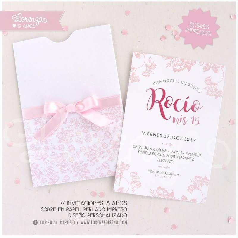 Invitaciones de 15 y Casamiento / sobres impresos! Diseños personalizados / LORENZADISEÑO.COM / infolorenza@gmail.com / C.A.B.A. ARGENTINA