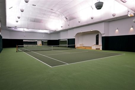 Wow Take A Look At This Personal Indoor Tennis Court Home Basketball Court Indoor Basketball Court Indoor Sports Court