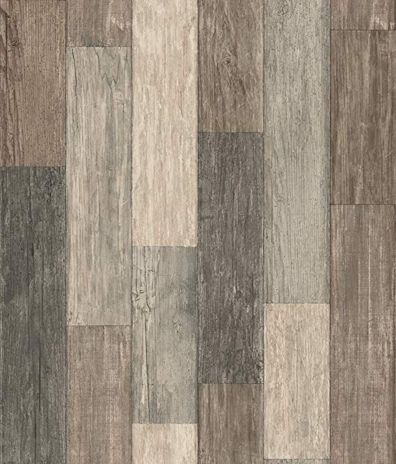 Amazon Com Roommates Dark Weathered Plank Peel And Stick Wallpaper Gateway Peel And Stick Wallpaper Wall Coverings Pallet Boards