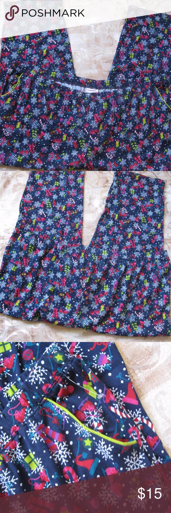 Serenada Women s Plus Size 5X 34 36W Pajama Lounge Serenada Women s Plus  Size 5X 34 36W Pajama Lounge Pants Christmas Print Bottoms Multi Color  Serenada ... f28adbae4