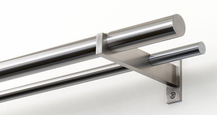 Mira Double Curtain Rod W Standard 4 3 1 2 Bauhaus Finials