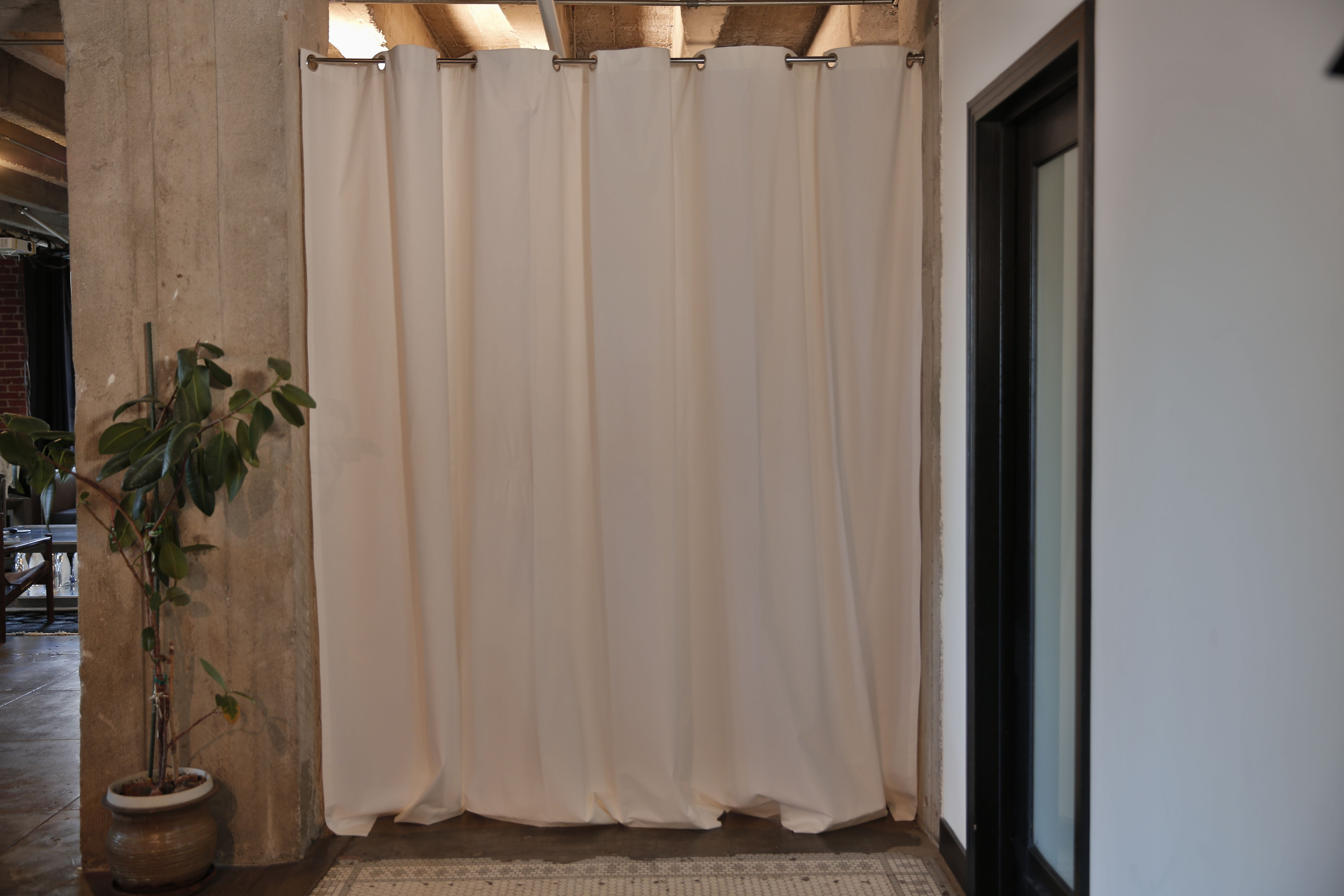 Loft bedroom privacy ideas  Tension rod room divider kits provide an innovative way to create
